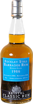 Rockley Still 1986 Barbados Rum